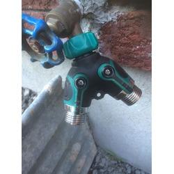 Spreey Garden Hose Splitter 2-Way Y Water Hose Connector