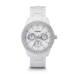 Fossil Stella White Resin Watch