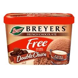 Breyer's Double Churned Fat Free Chocolate Frozen Dessert