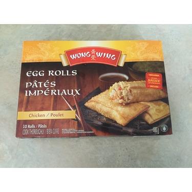 Wong wing egg rolls chicken
