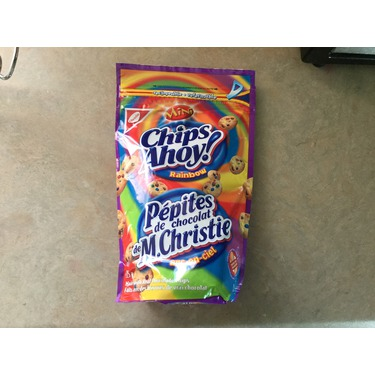 Mini chips ahoy rainbow cookies