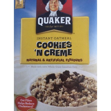 Quaker cookies and cream oatmeal