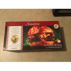 Sensations jalapeño & cheddar stuffed beef burgers