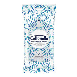 Cottonelle fresh care flushable cleansing wipes