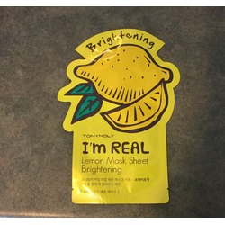 Tonymoly brightening I'm real lemon mask sheet