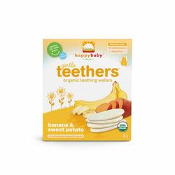 Happy Baby Organic Teething Wafers - banana and sweet potato