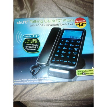 Shift 3 Talking caller ID Phone