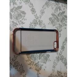 Caseology® Chrome / Microfiber Slider Case [Navy Blue] [Premium Rose Gold] for Apple iPhone 6S