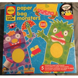 Alex toys early learning paper bag monsters