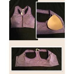 tanco Women Zip Padded Sports Bra Running Fitness