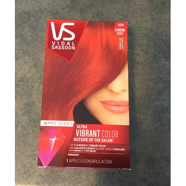 Vidal Sassoon ultra vibrant color runway red