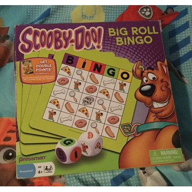 Scooby-doo big roll bingo