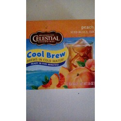 Celestial seasonings cool brew peach iced black tea