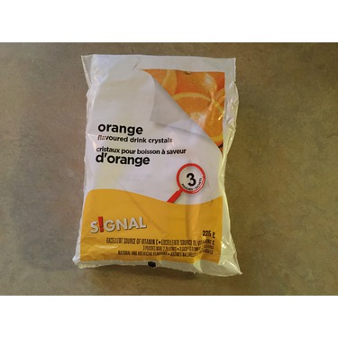 Signal Orange flavored drink crystals