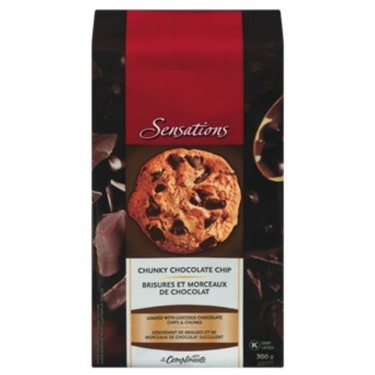 Sensations chunky chocolate chip cookies