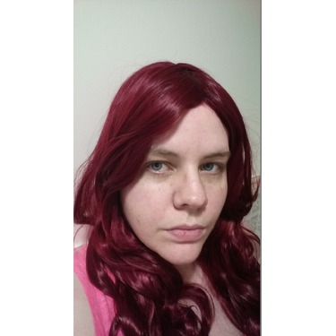 Kamo Charming Wine Red Heat-resistant Long Wave Cosplay Wig