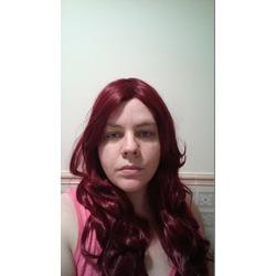 Kamo Charming Wine Red Heat-resistant Long Wave Cosplay Wig