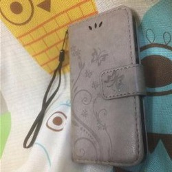 Ivencase iphone Stand Leather Magnetic Wallet Flower Pattern Case