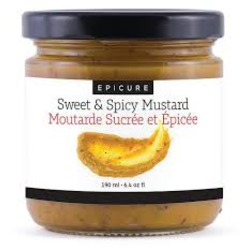 Epicure sweet and spicy organic mustard