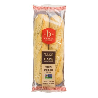 La brea bakery take & bake artisan twin pack French baquettes bread