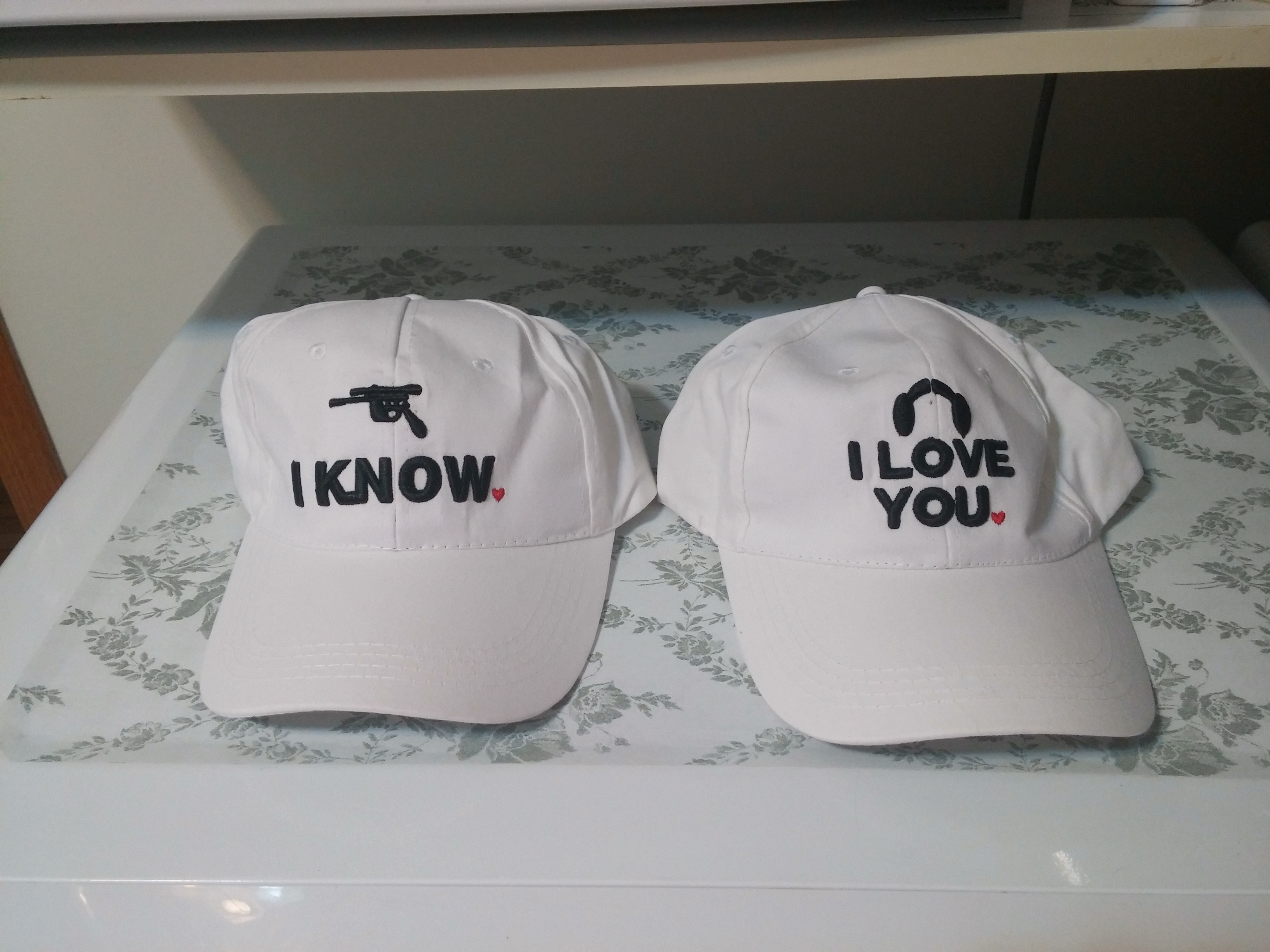 zzp white i love you i know embroidered men womens unisex