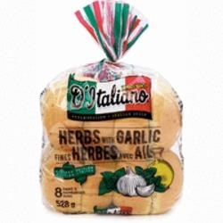 D'Italiano Herbs with Garlic Hamburger Buns
