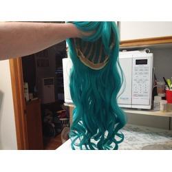 """Kamo 24"""" Long Wavy Cosplay Wig - Turquoise"""