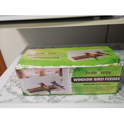BriteNway Window Bird Feeder with pull out tray