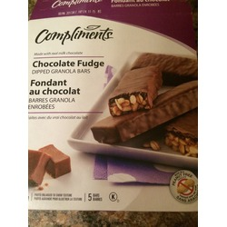 Compliments chocolate fudge granola bars