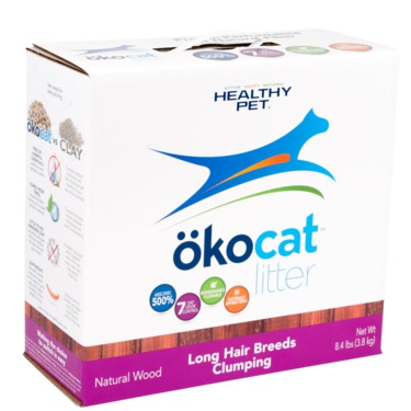 ökocat litter Natural Wood Clumping Cat Litter for Long Hair Breeds