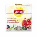 Lipton® White Tea Blueberry and Pomegranate Pyramid Tea Bags