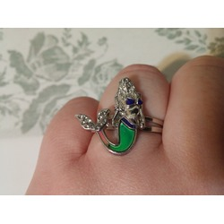 Mermaid Mood Ring with Purple Gift Box by Ocea Creations