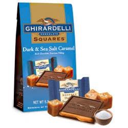 ghirardelli dark chocolate sea salt caramel squares