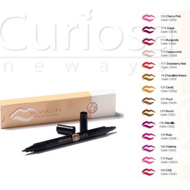 curiosa henna lips semi-permanent lip liner
