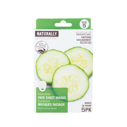 Naturally Upper Canada Cucumber Face Sheet Masks
