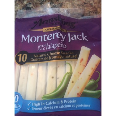Armstrong cheese snacks Monterey Jack with jalapeños