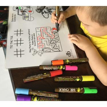 Mr. Chalk 10 Pack of 6MM Liquid Dustless Erasable Chalk Markers