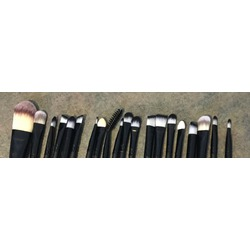 20pcs Black Makeup Brushes Set Multi Function Foundation Eyeshadading Eyebrow Lip Eyeliner Cosmetic Tool
