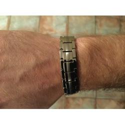 VITEROU Men's Double Row 4 Elements Titanium Magnetic Bracelet For Arthritis