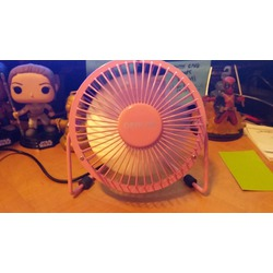 OPOLAR 4'' Mini USB Desktop Fan with Metal Construction and On-Off Switch