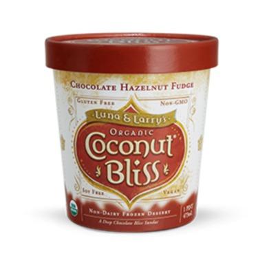 Coconut Bliss Dairy Free Ice Cream Chocolate Hazelnut Fudge