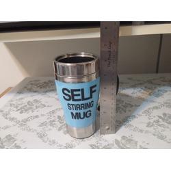 OFKP 350ml HOT Stainless Plain Lazy Self Stirring Mug
