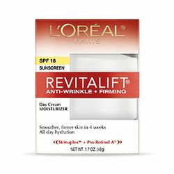 L'Oreal Paris RevitaLift Anti-Wrinkle + Firming Cream SPF 18