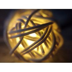 KEEDA Solar String Lights Waterproof 16.4ft 20 LED Rattan Ball
