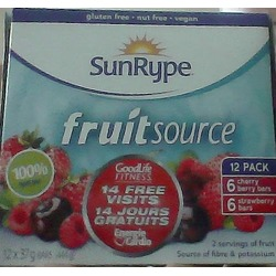 Sun Rype Fruit Source Fruit Bars