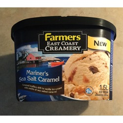 Farmers east coast creamery Mariners sea salt caramel
