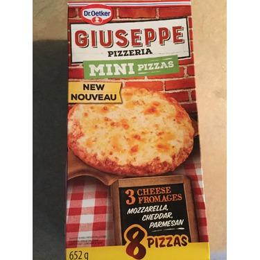 Giuseppe pizzeria mini pizzas 3 cheese