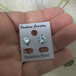 FIBO Steel Stainless Steel Womens Stud Earrings