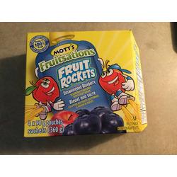 Motts fruitsations fruit rockets unsweetened blueberry