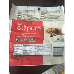 Leclerc Go pure  chocolate & quinoa cookies